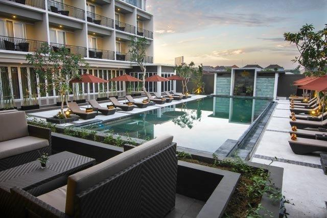 The Kana Kuta Hotel Bali - Pool View from Seleriana Restaurant