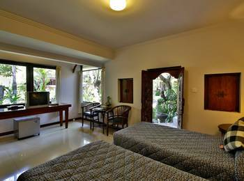Taman Harum Cottages Bali - Deluxe Garden View Special Promo 46% OFF - Non Refund