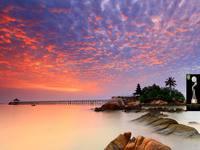 Turi Beach Resort Batam Sunrise at Island Bar Turi Beach Resort