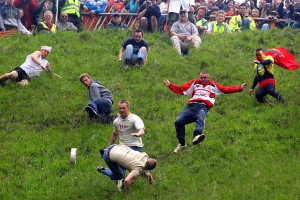 Annual Bank Holiday Cheese Rolling Competition