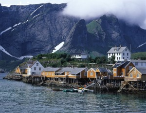 Moskenes?y island village view, Lofoten, Norway