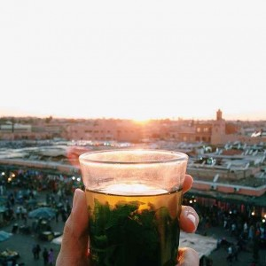 Mint Tea, di Djena El-Fna, Marrakesh, Moroko