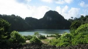 Segoro Anakan lagoon on Sempu island