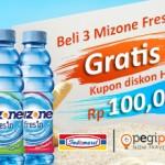 Beli Mizone Fres'In di Indomaret, bisa dapat voucher Pegipegi!