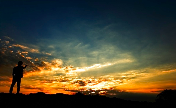 Sunrise di dekat desa wisata jelok