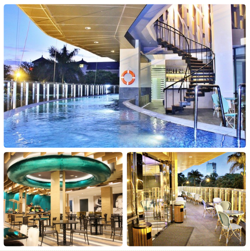 swimming pool, cafe, terrace 101 hotel Jakarta