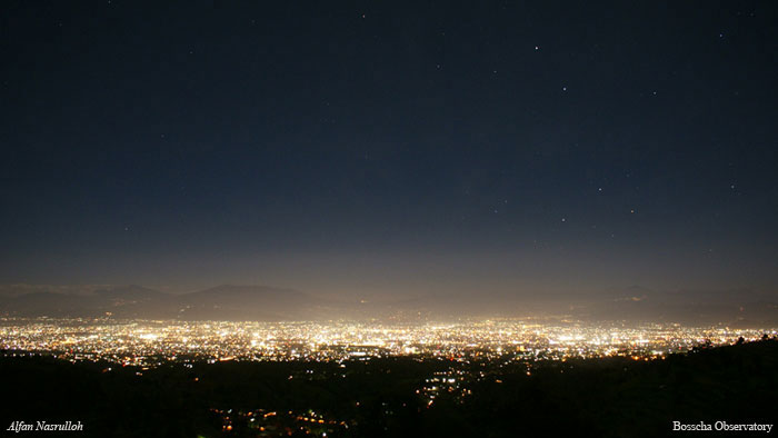 polusi cahaya bandung