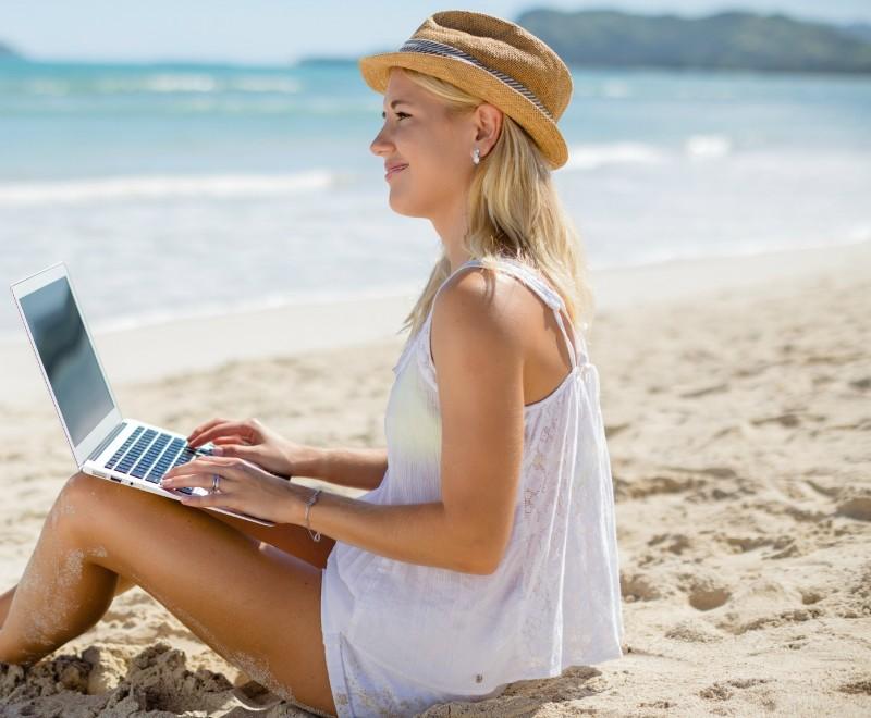 working-on-beach