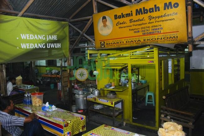 Warung bakmi Jawa milik Mbah Mo