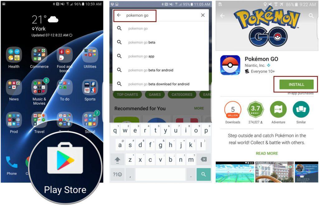 Cara Download Pokemon GO di Playstore