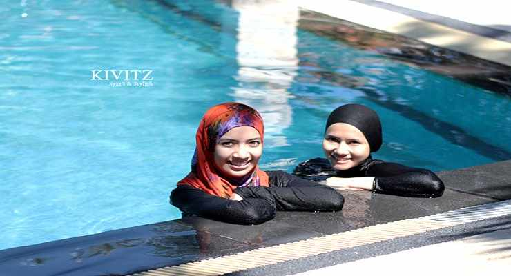 Hijab Swimming Pool Bandung Kolam Pemandian Air Panas