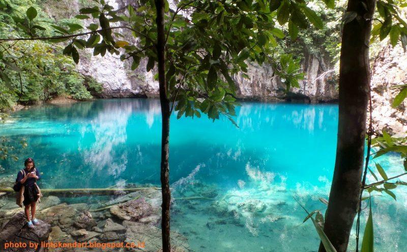 Cantik Memukau Danau Biru di Kolaka Utara, Sulawesi Tenggara