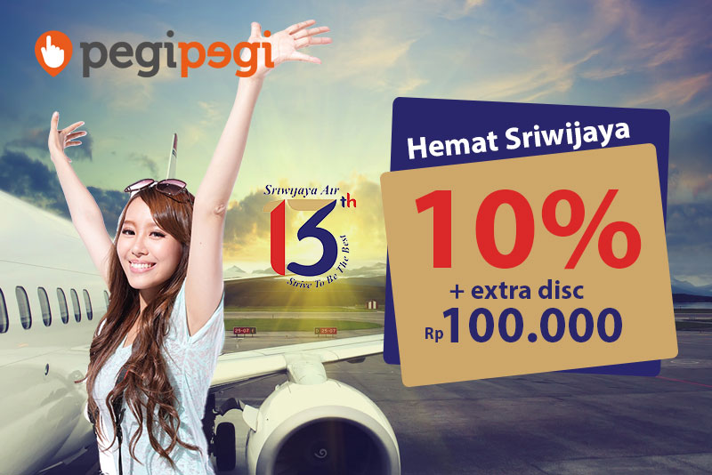 Promo Ultah Sriwijaya Air Diskon Tiket Pesawat 10 Diskon Tambahan Rp 100 Ribu