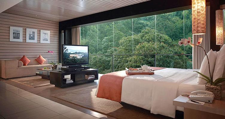 6 hotel bintang 5 di bandung dengan fasilitas mewah untuk for Dekor kamar hotel di bandung