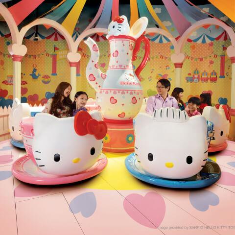 hello kitty land tea cup ride opt - Negara Yang Mempunyai wisata yang oke, Cocok untuk Liburan