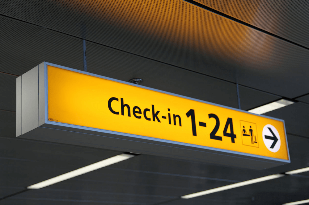 check-in pesawat