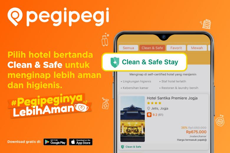 Fitur Clean & Safe Stay Pegipegi