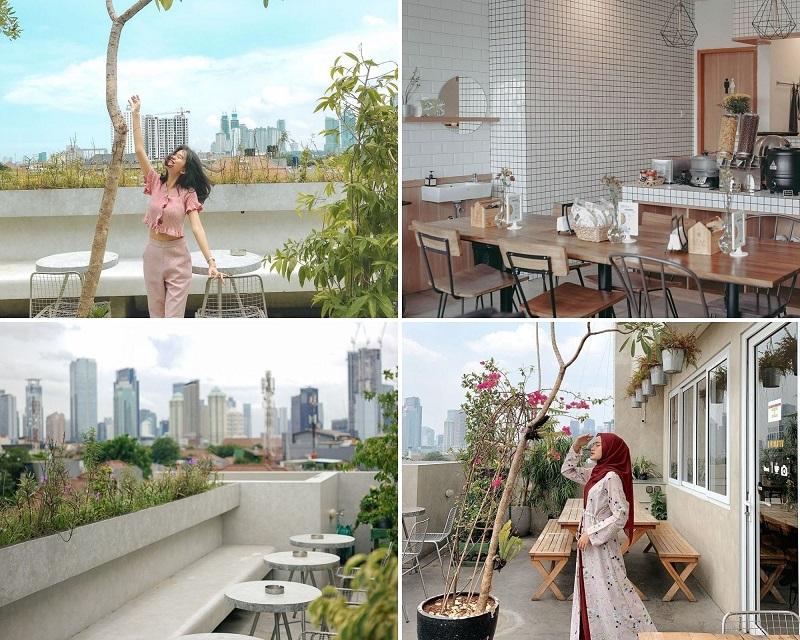 kafe dengan rooftop yang indah di jakarta