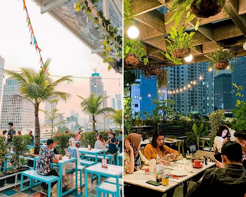 cafe dengan rooftop cantik di jakarta